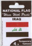 Iraq Country Flag Tattoos.